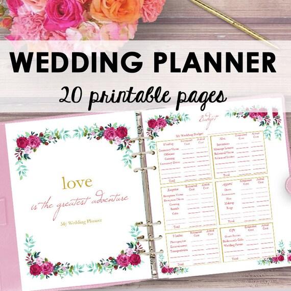 Wedding planner printable wedding planner book binder solutioingenieria Images