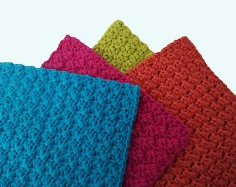 Crochet Pattern: Washcloths, Dishcloths Instant Download