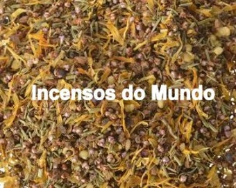 Aromatic herbs with incense