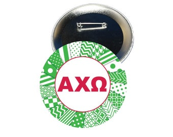 Alpha Chi Omega Button - Letters