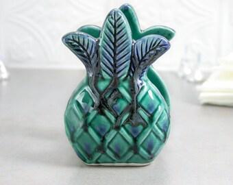 Pineapple napkin holder Pineapple Sponge Holder Pineapple Tropical Decor Mint Green Blue Handmade Ceramic Pottery Kitchen Housewarming Gift