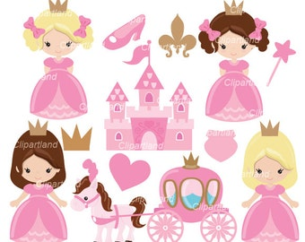 INSTANT Download. CP_11_Princess. Cute princess clip art.  Personal and commercial use.