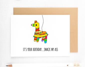 Funny Birthday Card, Dirty Birthday Card, Sexy Boyfriend Card, Naughty Cards, Naughty Boyfriend, Sexy Card For Him, Dirty Birthday Card
