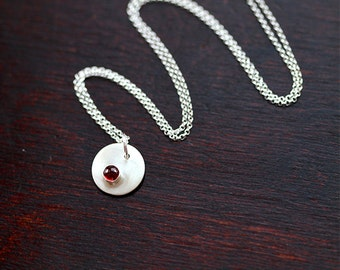 Birthstone Personalized Initial Necklace (E0343)