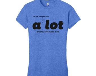 A Lot Shirt Grammar Shirt Men's Shirt Men's T-Shirt English Teacher Gift for Teachers Funny T Shirt Man Nerdy Christmas Gift English Gifts
