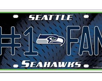 Seattle Seahawks #1 Fan License Plate