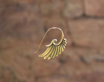 wings brass earrings copper boucles d'oreille ailes laiton