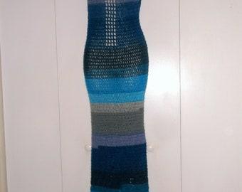 Hand Crochet Sexi Maxi Dress, Beach Dress, Urban Chic Dress,  2 Sided Long Crochet Dress, Crochet Mesh Dress, Crochet Party Dress