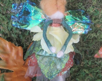 Woodland Autumn Forest Felted Fairy Ornament
