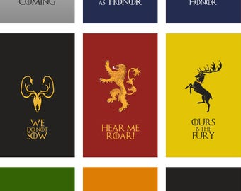 Game of Thrones flag | 9 flags set Portrait | 3x5 ft / 90x150 cm