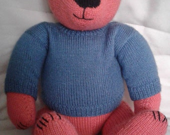 Large knitted teddy