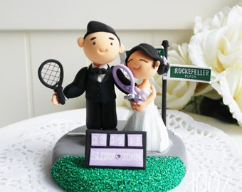 Custom Wedding Cake Topper- NYC couple