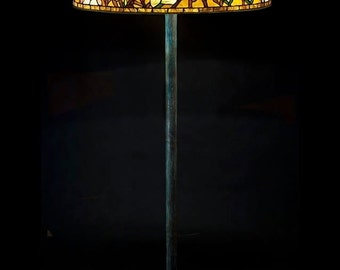 Lobby lamp, Floor lamp, Standing lamp, Entryway lamp, Tiffany replica, Tiffany lamp, Office lamp, Bespoke glass, Stained glass lamp, Design