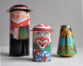 Cap-Tins People Decorative Tins - Made in England - Set of 3