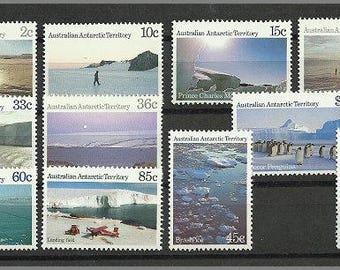 1984 Antarctic Scenes, postage stamps from Australian Antarctic Territory in unused condition
