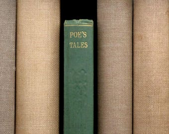 1920s Edgar Allan Poe vintage book Tales of Mystery and Imagination includes The Gold - Bug and The Fall of the House of Usher and others