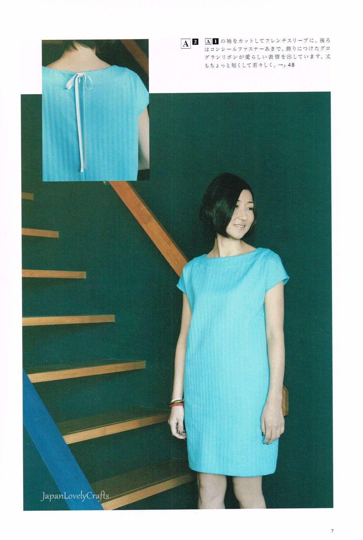 Japanischen Stil Kleidung einfache Nähen Musterbuch Frauen