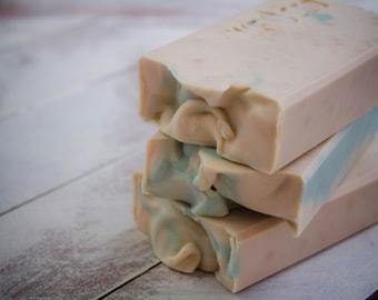 Peppermint soap bar,  Minty soap, Handcrafted soap, Cold Process Soap, Vegan soap, Winter soap, Soap for Men, Handmade soap bar, Mens soap