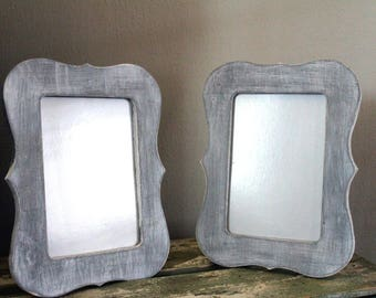 Hand Painted Picture Frames/Farmhouse frames/ Shabby Chic/Wooden Frames