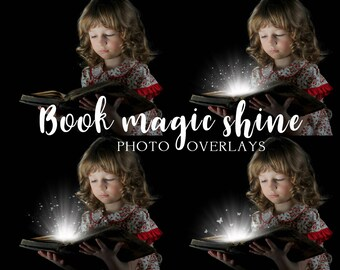 20 Book magic shine photo overlays, Christmas overlays, fairy overlay, light overlay, png overlay