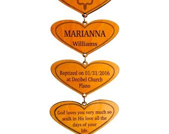 Personalized Baptism Gift - Gifts for Christening from Godmother - Godfather - Baptism Gift for Godson - Godchild - Goddaughter -Cross