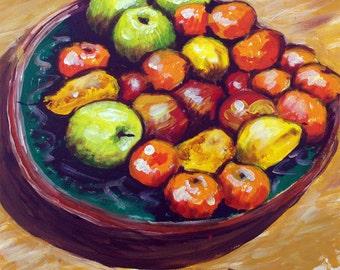 Full fruit dish- fine art print