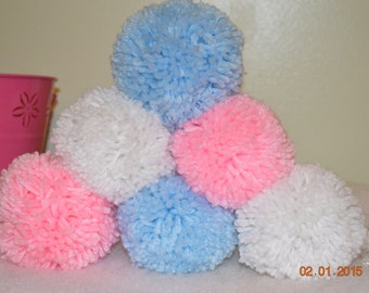 Indoor Snowball Fight in Pink and Blue, Gender Reveal Snowballs Set of 6 Perfect for Baby Showers or a gift for any family!