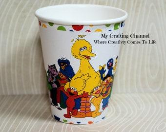 Sesame Street Birthday Party Cups,Sesame Street,Party Birthday Cups,Party,Birthday,Cups