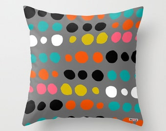 Decorative pillow cover - Modern decor - Couch pillow - Scandinavian pillow -  Winter trends - Fall decor trends - Colorful