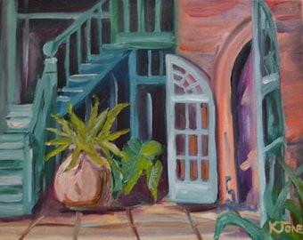 Superior Brulatour Courtyard | Original Oil Painting By Louisiana Artist Kristi  Jones | French Quarter New Orleans