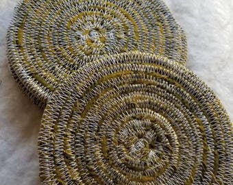 Handmade rope coiled coaster set of 4
