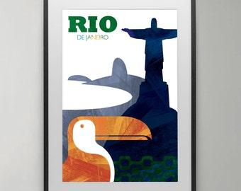 Rio de Janeiro, Brazil, Travel, Rio art poster, Jesus Art, christian art, Poster, Typography, Wall Art, Instant Download, Home decor.