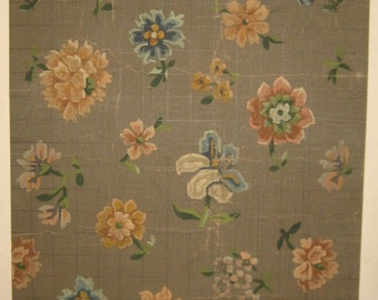 Antique Incredibly Charming  19th C. French Tapestry Painting (8012)
