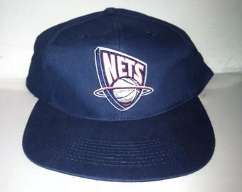 Vintage New Jersey Nets Snapback hat cap rare 90s NBA jason kidd deadstock brooklyn vince carter