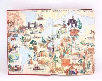 Vintage Wonder Encyclopedia For Children Val.1 John R. CROSSLAND J. M. PARRISH BOOK