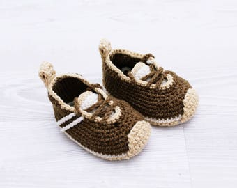 Crochet baby shoes Baby sneakers Baby booties Crochet baby shoe, Baby slippers, Crochet baby booties, Athletic shoes, Newborn boy shoes