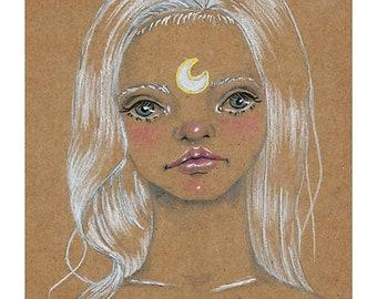 "Print of original illustration ""Luna"""