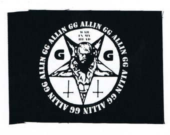 GG Allin Punk Patch
