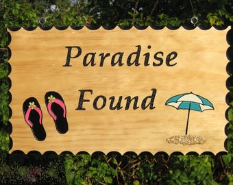 RV Sign - Paradise Found Water Theme