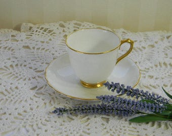 DEMITASSE TEACUP, Lovely Vintage Royal Chelsea Bone China Cup and Saucer