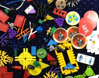 Lot of 100 Found Objects for assemblage altered art mixed media collage scrapbooking supplies
