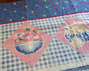 Vintage Apron Panel, Harvest Apron, Make an Apron, Fabric Panel, Apron Fabric Panel