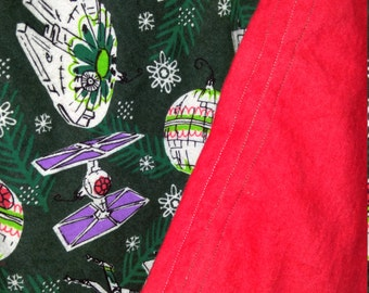 Star Wars holiday cotton flannel baby blanket