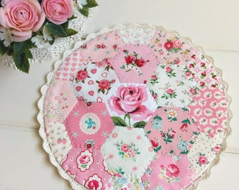 a most lovely large hexie patchwork doily no.1