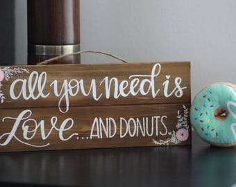 Hand Painted Wood Wedding Kitchen Sign