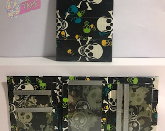 Skulls Duct Tape Trifold Wallet