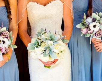 Custom Bridesmaids Bouquets- Silk Flowers