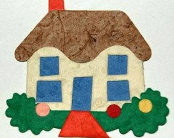 Pk 3 Home Sweet Home die cut embellishments for cards and craft