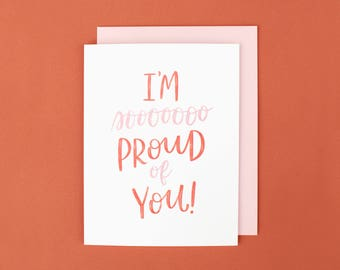 Congratulations Card, Graduation Card, Encouragement Card, New Mom Card, Proud of You Card, Accomplishment Card, Just Because Card