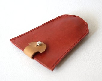 Keychain. Red keychain. Baggy. Personalized keychain. Leather keyring. Woman's & Man's keychain. Custom leather keychain.